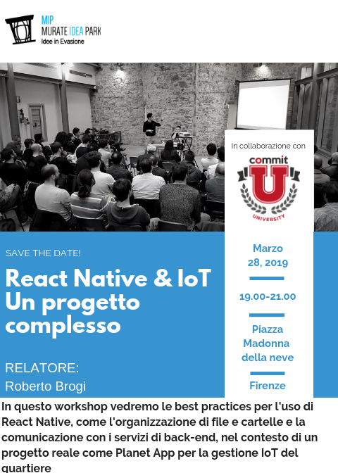 React Native & IoT - Un progetto complesso - Commit Software